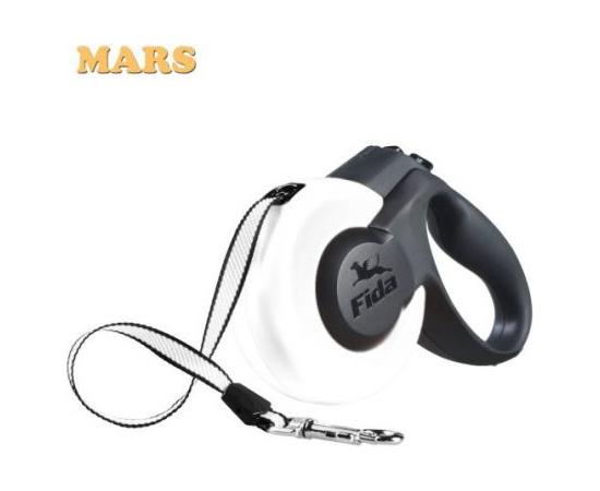 Fida (PRC) - Fida Mars Mini XS Tape 3m - Pavada suņiem lente (dažādas krasas), 3m līdz 12kg Balta (1 d.d.), image 1