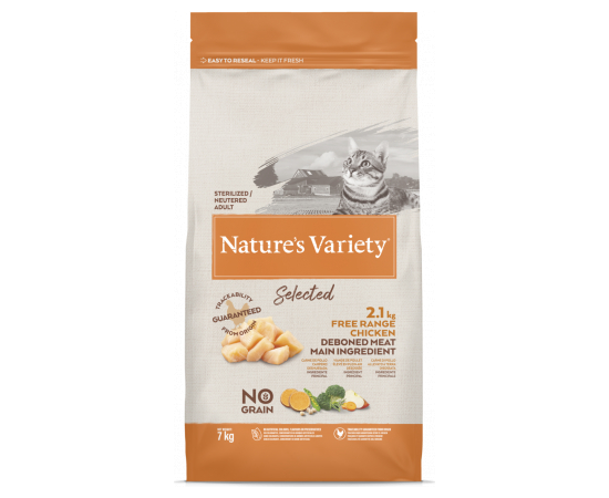Natures Variety NV Cat Selected  Sterilized Free Range Chicken 7 Kg, фото 1