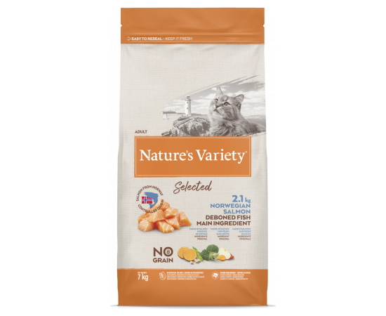 Natures Variety NV Cat Selected  Norwegian Salmon 7 Kg, фото 1